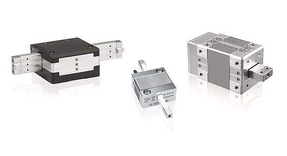 PiezoWalk® OEM drives are compact and powerful, from the left, N-331, N-310, N-216