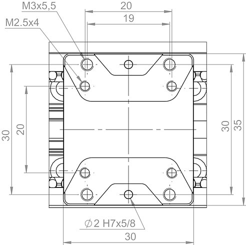 L-505 motion platform, dimensions in mm